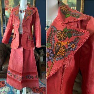 One of a kind 1970s Char de Vasquez skirt suit